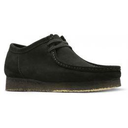 Clarks Black Suede Wallabee Mens Casual Shoes 26133279