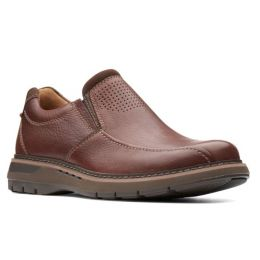 Clarks Black Tumbled Leather Un.Ramble Step Mens Shoes 26136999