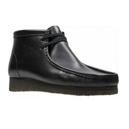 Clarks Men's Wallabee Boot Black Leather Comfort Shoe 26155512