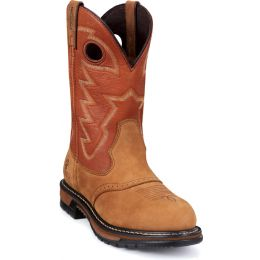 Waterproof 11-in Original Ride Branson Saddle Western Roper Mens Boots