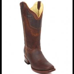 Rockin Leather Espresso Shedron Ladies Western Boots 2801