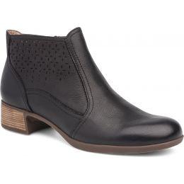 Dansko Liberty Black Burnished Nappa Womens Ankle Boots 2909-021200