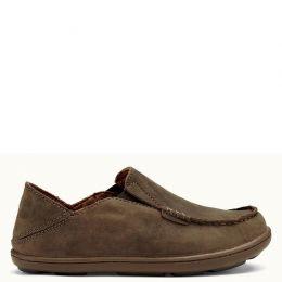 Olukai Moloa Slip-On Tan Leather Kids Casual 30130-2734