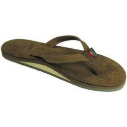 301ALTS0-DKBR-L Blackforest Brown Single Layer Wide Strap Rainbow Ladies Sandals