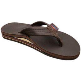 Espresso Double Layer Wide Strap Ladies Rainbow Sandals
