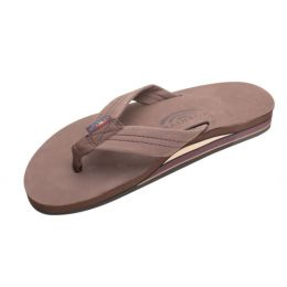 Rainbow Double Layer Espresso Leather Mens Sandals 302ALTSO-EXPR-M
