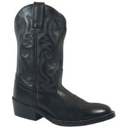 Smoky Mountain Denver Black Leather Kids Western 3032C