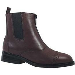 Leather Front Zipper With Elastic Gores Riding Heel Kids Paddock Boots