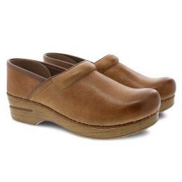 Dansko Professional Honey Distressed Womens Comfort Clogs 306-581464