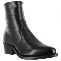 Sage Boots By Abilene 7 inch Black Mens Western Zip Boots 3151