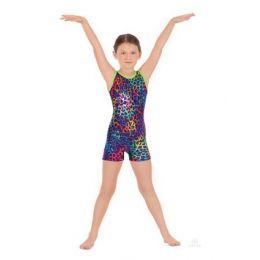 31699C Eurotard Disco Leopard Children Gymnastics Biketard