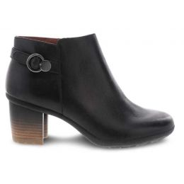 Dansko Black Waterproof Burnished Perry Womens Comfort Short Boots 3331-470200