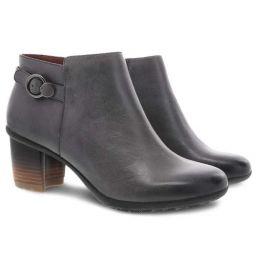 Dansko Grey Waterproof Burnished Perry Womens Comfort Short Boots 3331-940200