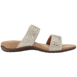 Vionic Pewter Samoa Womens Comfort Slide Sandals 341SAMOA