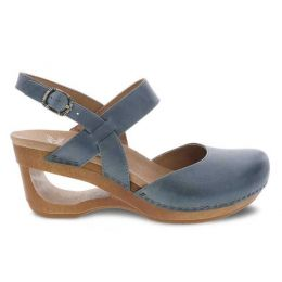 Dansko Taci Danim Waxy Calf Womens Comfort Wedge Sandals 3413-721500