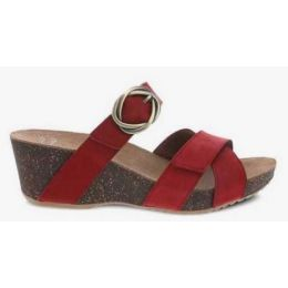 Dansko Women's Susie Red Milled Nubuck Sandal 3420-040300