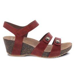 Dansko Savannah Coral Waxy Burnished Womens Adjustable Strap Sandals 3422-480300