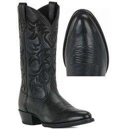 34770 Black Deertan Heritage Western Ariat Mens Cowboy Boots
