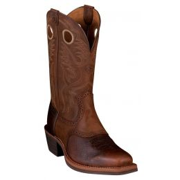 34824 Brown Oiled Rowdy Roughstock Heritage Western Ariat Mens Boots