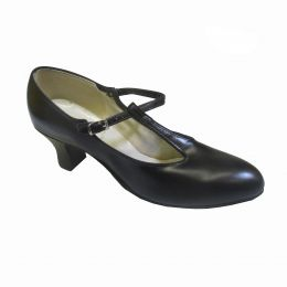 3551 Black Leather T-Strap Character/Tap Shoes **ONLINE PRICE ONLY**