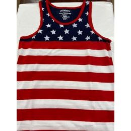Karman Roper Men's Red, White and Blue Patriotic Tank Top 358Flag