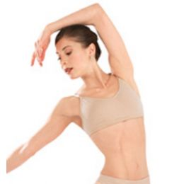 3683 Nude Seamless Clear Back Capezio Bra - (Adult Sizes S-L)
