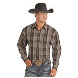 Panhandle Slim Yarndye Plaid Mens Long Sleeve Snap Shirt 36S6063