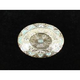 37991 Aztec/Floral Oval Blazin Roxx Women's Buckle