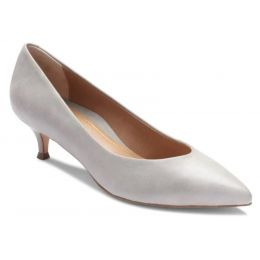Vionic Light Grey Josie Kitten Womens Versatile Dress Heels 389JOSIE