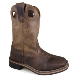Smoky Mountain Boots Brown Leather Chidren's Square Toe Boot 3910C