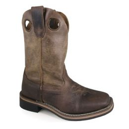 Smoky Mountain Brown Youth Boys Waylon Oiled Brown Leather Cowboy Boots 3910Y