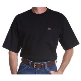 3W700BK Riggs Workwear Short Sleeve Pocket Tee Wrangler Mens Shirts