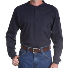 Riggs Workwear Long Sleeve 2-Button Henley Wrangler Mens Shirts