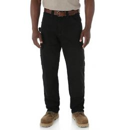 3W060BL Black Riggs Workwear Wrangler Mens Ranger Pants