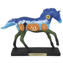 4041002 PUMPKIN PATCH 6.5-in Tall Resin Collectible Painted Ponies Figurines