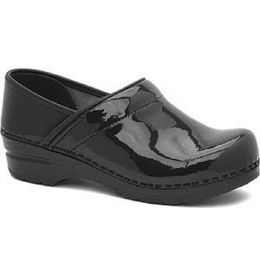 Professional Patent Leather Closed-Back Comfort Clog Womens Shoes