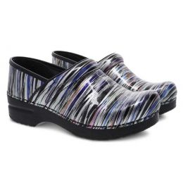 Dansko Professional Striped Patent Womens Comfort Clogs 406-260202
