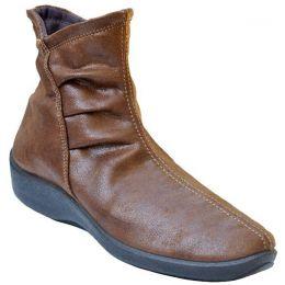 Arcopedico Women's Red Comfort Inside Zip Ankle Boots 4281-L19-26