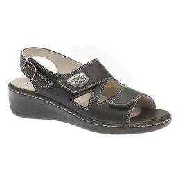 43-4004 Black HALLUX-FABIA With Back Strap Women's Sandals