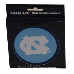 UNC Chapel Hill Collegiate 4 Inch Round Neoprene Coaster Set 436339