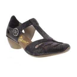 Rieker Metallic Mirjam 50 Womens Adustable Strap Low Heel 43750-45