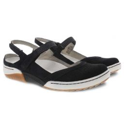 Dansko Black Suede Raeann Adjustbale Strap Womens Comfort Shoe 4426-100300