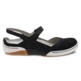 Dansko Black Suede Raeann Adjustbale Strap Womens Comfort Shoe 4426-100300