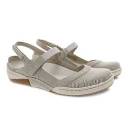 Dansko Ivory Suede Raeann Adjustable Strap Womens Comfort Shoes 4426-650300