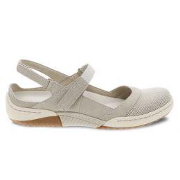 Dansko Ivory Suede Raeann Adjustable Strap Womens Comfort Shoes 4426-650300