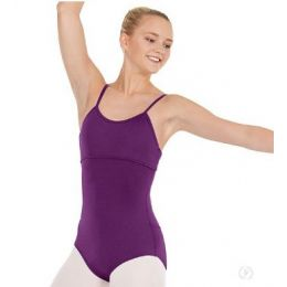 Eurotard Eggplant Girls Multi-Way Camisole Leotard with Tactel Microfiber 44822C