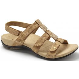 Vionic Gold Cork Amber Adjustable Womens Sandal 44Amber