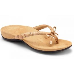 Vionic Gold Cork Bella Womens Toe Post Sandals 44BELLA