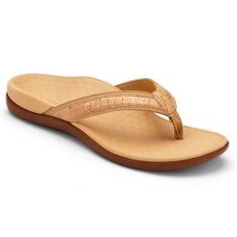 Vionic Gold Cork Tide II Toe Post Womens Comfort Sandals
