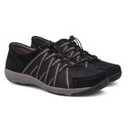 Dansko Honor Black/Black Suede Womens Comfort Sneaker 4509-360295
